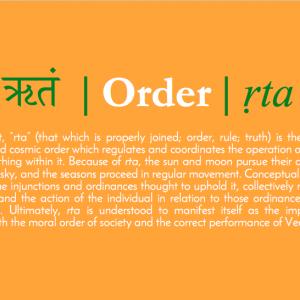 ऋतं | Order | Ṛta