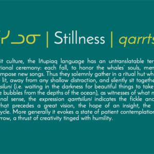 ᖄᕐᑦᓯᓗᓂ   Stillness   Qarrtsiluni