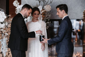 Francois and Melanie making a ritual for their ceremony