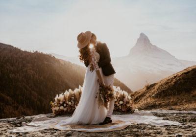 Emilie & Eric   Elopement Bohème   Vallée De Sunegga (Zermatt)