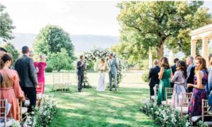 Wedding ceremony officiated by Julien Abegglen Verazzi