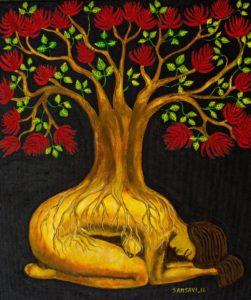 « Encuentro con la Pachamama » | « Rencontre avec la Pachamama » de R. Mamani (2009)