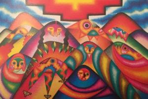 « Madre tierra y el árbol de colorín », soit « La Terre Mère et l'arbre coloré » de Santiago Savi